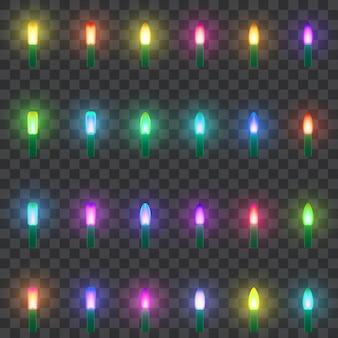 Set di lampade al neon a led.