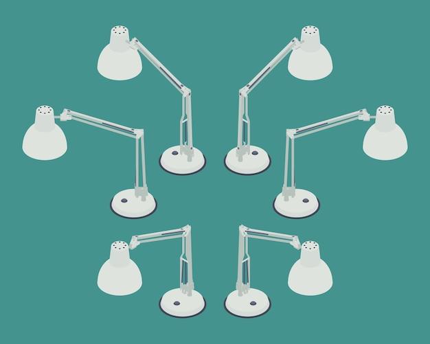 Set di lampade da tavolo isometriche