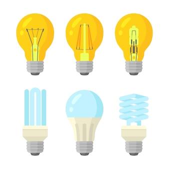Set di lampadine stile piatto