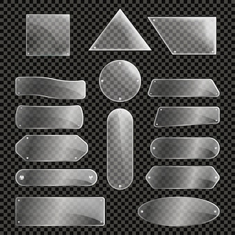 Set di lastre di vetro isolato