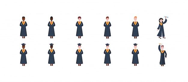 Set di laurea isolato persone