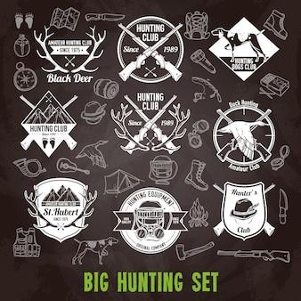 Set di lavagna di caccia