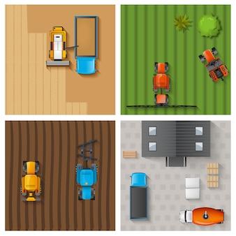 Set di lavori agricoli