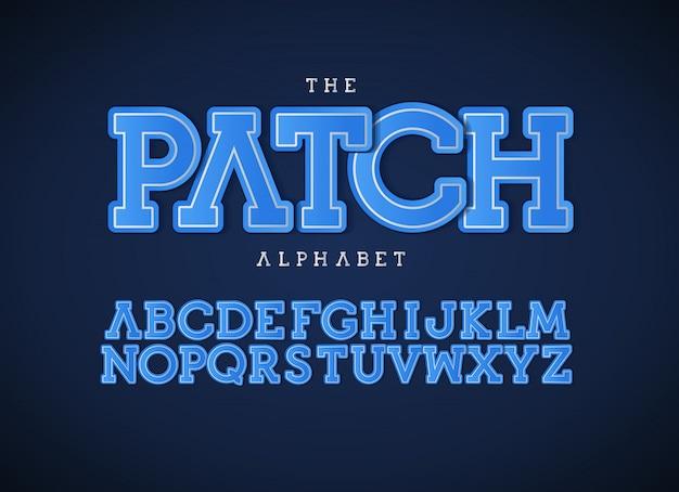 Set di lettere blu patch