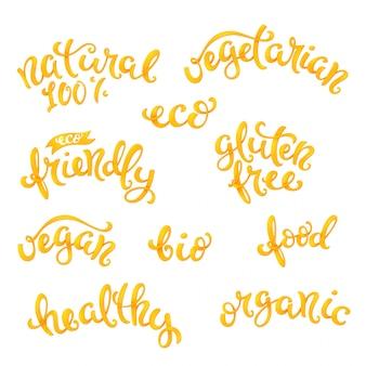 Set di lettere correlate vegan