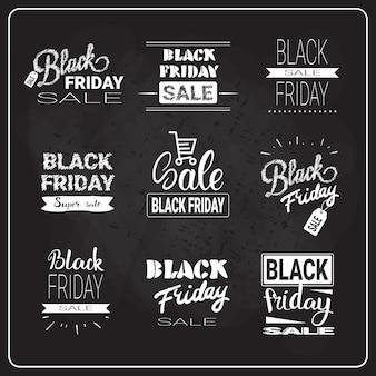 Set di lettere del black friday