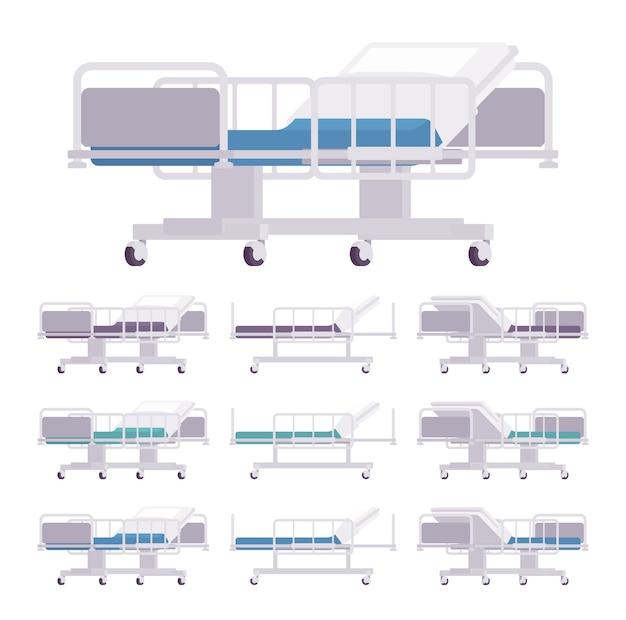 Set di lettini per visita ospedaliera