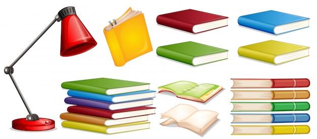 Set di libri diversi