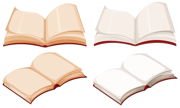 Set di libri vuoti