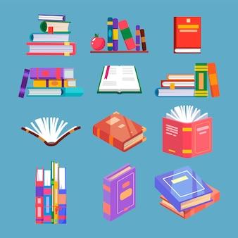 Set di libro di lettura isolato