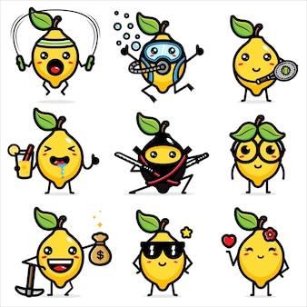 Set di limone carino