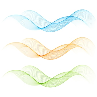 Set di linee curve di colore