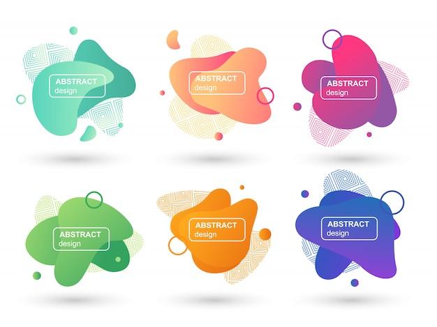 Set di liquido astratto forme elementi grafici moderni