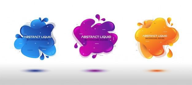 Set di liquido fluido dinamico astratto moderno