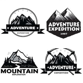 Set di loghi da campeggio