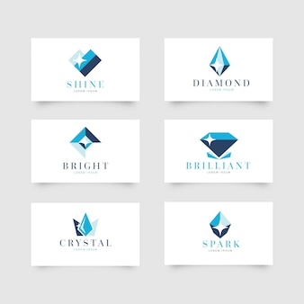 Set di loghi di diamanti per azienda