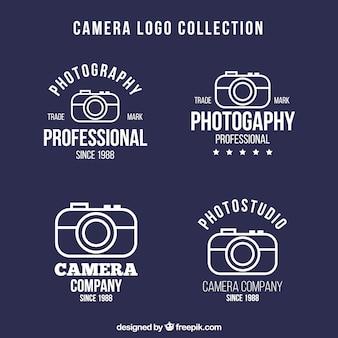 Set di loghi di foto in disegno lineare