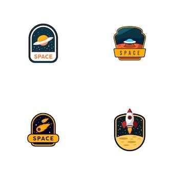 Set di loghi spaziali