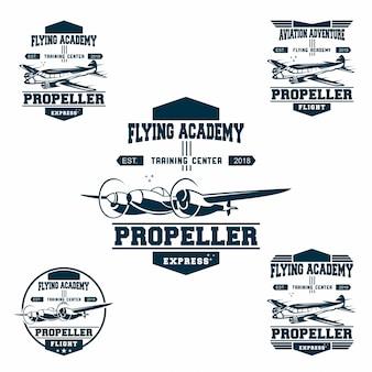 Set di logo aeronautico