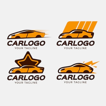 Set di logo auto design piatto