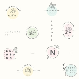 Set di logo botanico