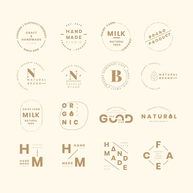 Set di logo del marchio