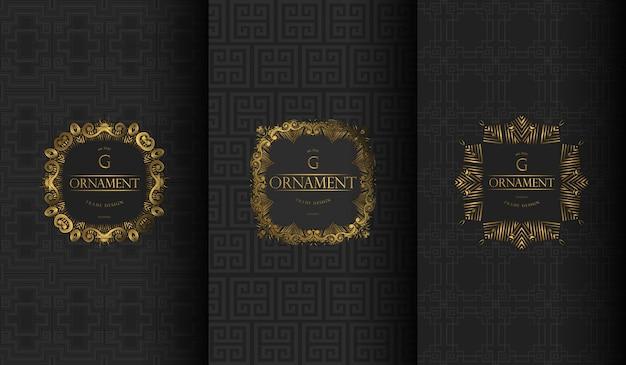Set di logo di lusso