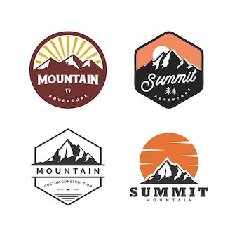 Set di logo di montagna retrò