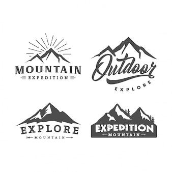 Set di logo di montagna
