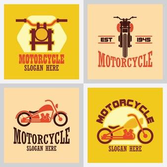 Set di logo moto, emblemi e insegne