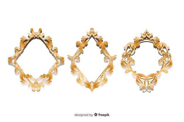 Set di logo vintage ornamentale