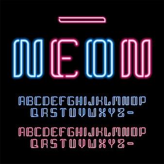 Set di luci bagliore di lettere di testo anni '80