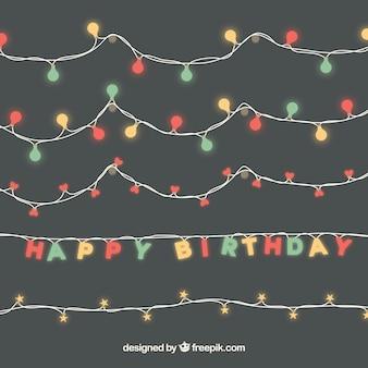 Set di luci di compleanno ghirlande