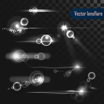 Set di luci realistiche razzi lente