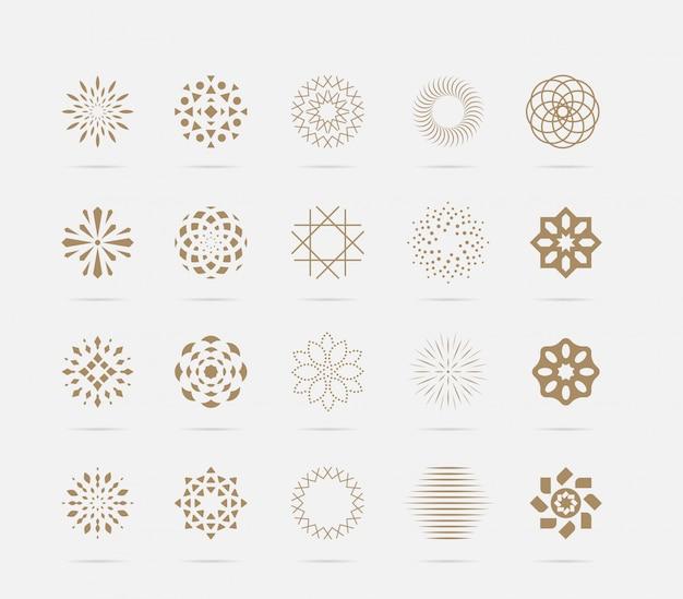 Set di lusso astratto simbolo vettoriale