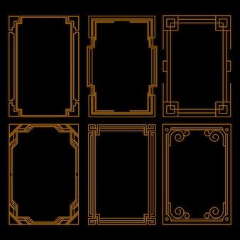 Set di lusso cornice dorata