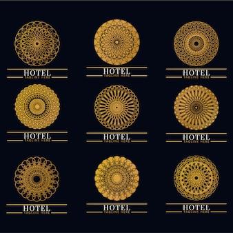 Set di lusso ed elegante monogramma logo. vintage retrò. azienda, marchio, marchio, corporate, identità, logotipo