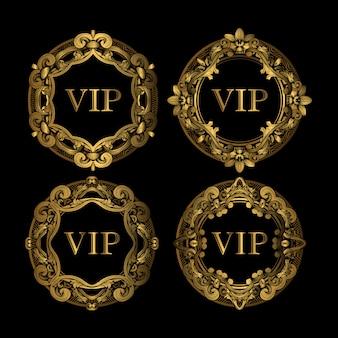 Set di lusso vip golden frame