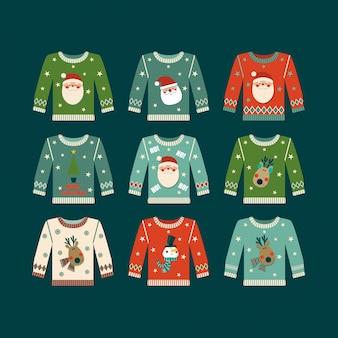 Set di maglioni natalizi.
