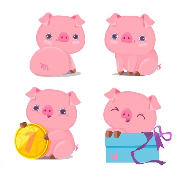 Set di maiale carino