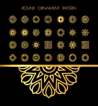 Set di mandala d'oro
