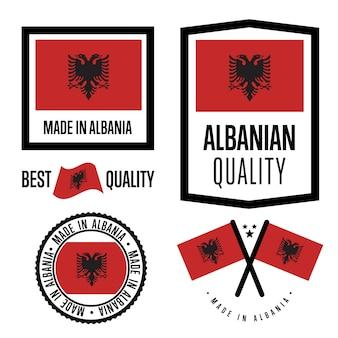 Set di marchi di qualità albania