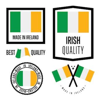 Set di marchi di qualità dell'irlanda
