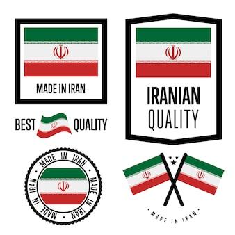 Set di marchi di qualità iran