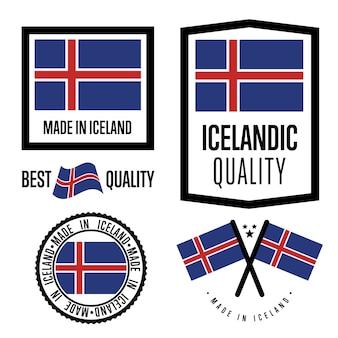 Set di marchi di qualità islandese