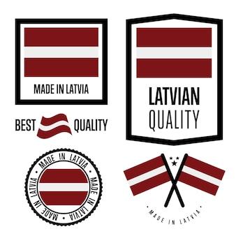 Set di marchi di qualità lettonia