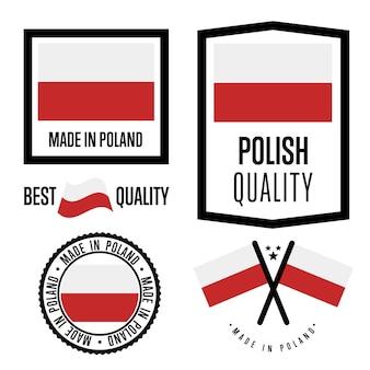 Set di marchi di qualità polonia