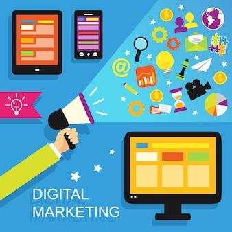 Set di marketing digitale
