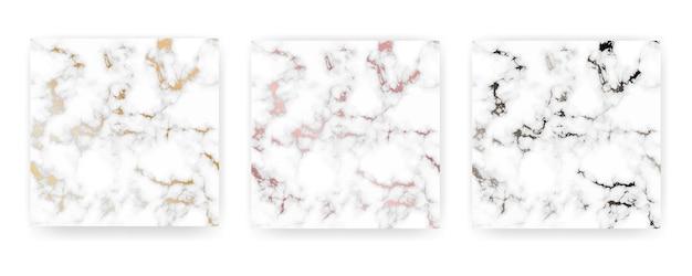 Set di marmo dorato texture di sfondo.