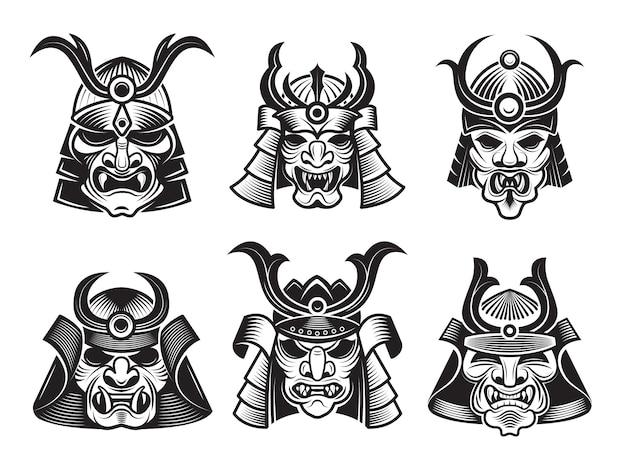 Set di maschere marziali asiatiche